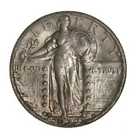 Raw 1930-S Standing Liberty 25C Uncertified Ungraded Silver Quarter Dollar Coin
