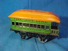 1920s MARX O Gauge JOY LINE MODEL RR Tin Litho # 458 OBSERVATION CAR
