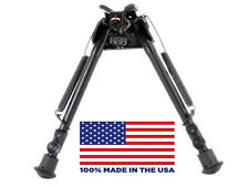 """HBLS Harris Bipod - Extends from 9"""" to 13"""" - Swivels - Ultralight - Made in USA"""