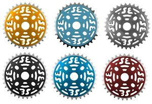 "Chainring Sprockets SE Bikes Alloy 33T 1/2"" x 1/8"" Chains Different Colors"