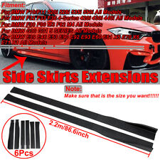 2.2M Matte Side Skirts Extensions For BMW E36 E60 E63 F10 F30 F32 F36 F80 X5 X6