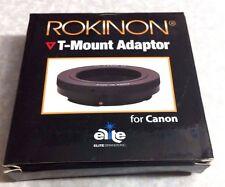 T-Mount Camera Adapter For Canon EF EOS AF Camera SLR DSLR T-2 T Mount T2-Mount