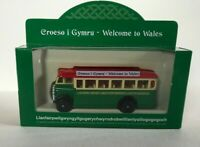 CORGI & HORNBY WELCOME TO WALES OLD DIECAST BUS BOXED RED CREAM GREEN YNYS MON