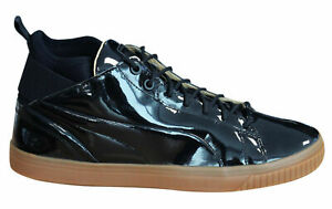 Puma Play Nude Mens Trainers Lace Up Mid Shoes Patent Leather 361469 01 D12