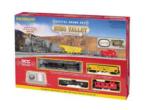 Bachmann HO Echo Valley Express Train Set W/3 Cars Sound Loco Headlight BAC00825