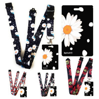 FLOWERS Standard size ID badge holder and lanyard neck strap holder SPIRIUS