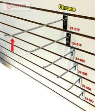 "12"" Slatwall Metal Hooks (24-012CH) - 100 Piece - Chrome(NEW)"