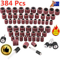 384pcs Set Drum Sander for Dremel Rotary Tool 360 Nail Sanding +24 Drum Mandrels