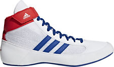 adidas Havoc Mens Wrestling Shoes White Blue 3 Stripes Lightweight Combat Boots