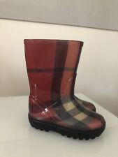 Burberry Kinder Baby Gummi Regen Match Stiefel Schuhe Boots Nova Check Gr. 23/24