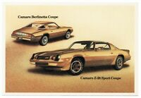 1981 Chevrolet CAMARO Z-28 SPORT COUPE & BERLINETTA Dealer Postcard UNUSED VG+
