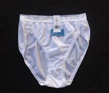 Carole Antron III 100% Nylon Classic Style Hi-Cut White Brief Size 9/2XL