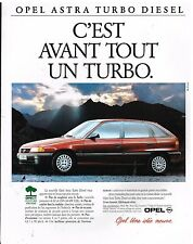 Publicité Advertising 1993 Opel Astra Turbo Diesel