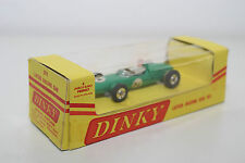 DINKY TOYS 241 LOTUS RACING CAR GREEN RED HELMET EXPORT BOX VN MINT BOXED
