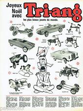 PUBLICITE ADVERTISING 056  1962  Tri-Ang  jeux jouets de Noel