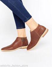 Zip Block Heel Leather Wet look, Shiny Boots for Women