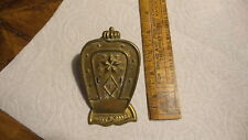 "Antique BRASS PAPER CLIP ""T"", N.Y.  Horseshoe Shape,Crown,Stars"