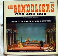 D'OYLY CARTE godoliers / cox & box 3 LP VG+ OSA 1323 Vinyl  Record