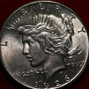 Uncirculated 1926 Philadelphia Mint Silver Peace Dollar
