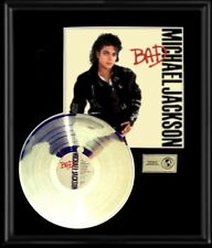 MICHAEL JACKSON GOLD RECORD PLATINUM DISC BAD RARE ORIGINAL ALBUM & LP JACKET