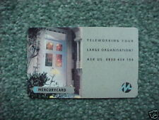 MINT TELEWORKING MERCURY PHONECARD