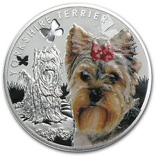 Niue 2014 Proof Silver Man's Best Friends Series - Yorkie - Box and Certificate