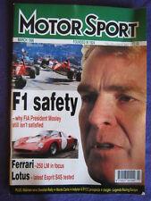 MOTORSPORT - F1 SAFETY - March 1996 vol 76 # 3