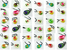 WHOLESALE LOTS 18PCS LOVELY NATURAL SUN-FLOWER PENDANTS SUPER MIX STYLE JEWEWLRY