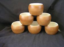 6 Vintage Miramar of Calif Tiki Mugs, Coconut Style, Hawaii Themed, Mid Century