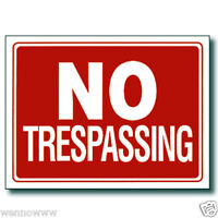 "2 Pcs 9 x 12 Inch Red & White Flexible Plastic "" No Trespassing "" Sign"