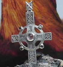 Peter Stone keltisches Druiden Kreuz Anhänger 925Silber Mondstein Kelten Kreuz
