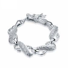 Men's Silver Dragon Bracelet Personalize Fashion Jewelry Cool Street Top Quality
