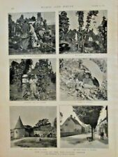 Hop Picking Season, Agriculture, Beer, Brewery, Vintage 1895 Antique Art Print