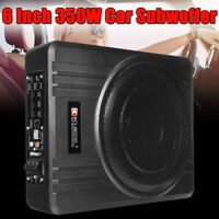10'' 600W Slim Under-Seat Car Powered Subwoofer Active Amplifier Enclosure