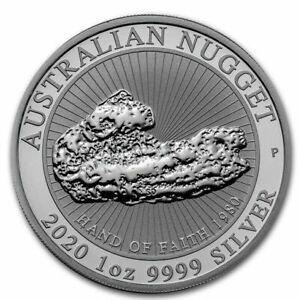 "Australia 2020 1 oz Silver coin ""Hand of Faith "" Nugget"