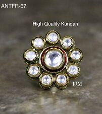 High Quality Kundan USA Indian Pakistani Ethnic Bollywood Antique Finger Ring