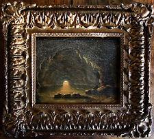 huile La grotte bleu à CAPRI animée école française signée datée XIXe Italie