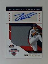 2019 Stars & Stripes Collegiate Silhouettes Relic Auto USA-AO Zack Thompson /199
