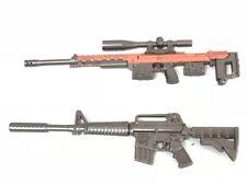 """PUBG-(3+4): 1/12 diecast metal toy M4-A1 & DSR guns for 6"""" ~ 8"""" action figures"""