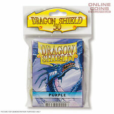 DRAGON SHIELD - Classic Standard Card Sleeves PURPLE Pack of 50 #AT-10209