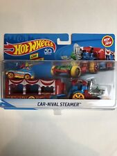 Hot Wheels 2018 CAR-NIVAL CIRCUS STEAMER transport SUPER RIGS with pedal car