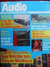 AUDIO 1/87. SONY CDX J10,XM 600,NAKAMICHI TD 400D,PA 200,BLAUPUNKT BREMEN SQR 46