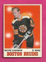 1970-71 OPC # 7 BRUINS WAYNE CASHMAN  ROOKIE FAIR CARD (INV# D7890)
