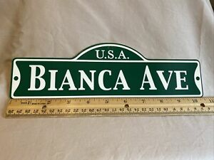 Green Street Room Sign Personalized  ~ USA  Bianca Ave~ Stocking Stuffer ~