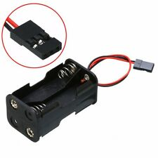 Battery Holder Dual Plug Box 6V DC Case to 4 Pcs AA Size Batteries + Wire Lead