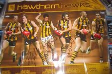 Hawthorn FC 6 player signed poster incl.  S.Crawford, L.Hodge, J.Roughead 1162