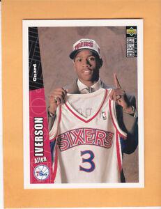 1996 97 UPPER DECK COLLECTORS CHOICE #301 ALLEN IVERSON ROOKIE 76ERS MINT MT RC