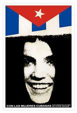 Cuban movie Poster for film Mujeres CUBANAS.Cuba flag art film.Home Wall Decor