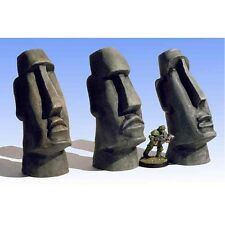 Armorcast 28mm Resin ACTT001 Easter Island Heads (3) Terrain NEW