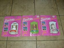 BARBIE MINIATURE DOLL HOLIDAY COLLECTION 1980s 3 DOLL MOC SET LOT